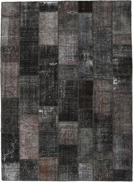 Patchwork Tapis 273X375 Moderne Fait Main Gris Foncé/Noir Grand (Laine, Turquie)