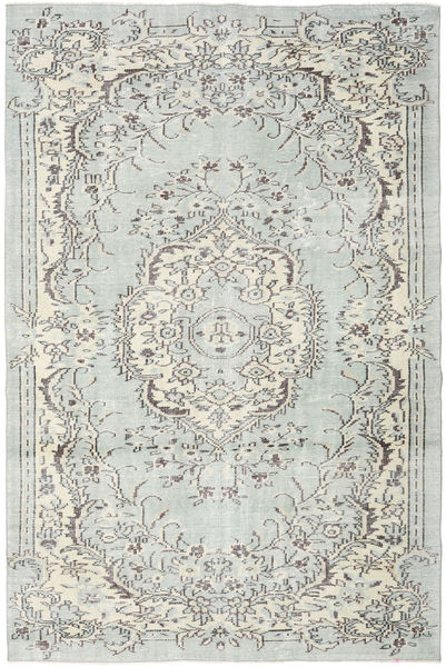 Colored Vintage Rug 190X294 Authentic  Modern Handknotted Light Grey/Beige (Wool, Turkey)