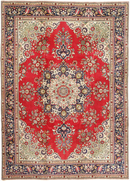 Tabriz Patina Rug 245X340 Authentic  Oriental Handknotted Light Brown/Brown (Wool, Persia/Iran)