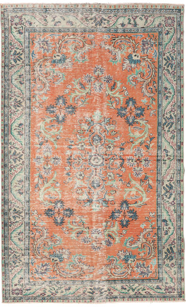 Colored Vintage Rug 182X294 Authentic  Modern Handknotted Light Pink/Light Grey (Wool, Turkey)