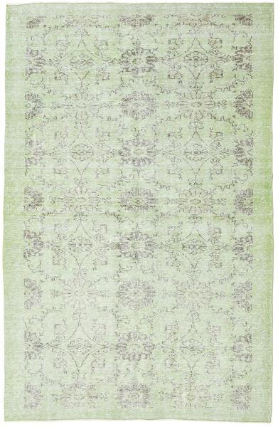 Colored Vintage Matto 170X272 Moderni Käsinsolmittu Valkoinen/Creme/Pastellinvihreä (Villa, Turkki)