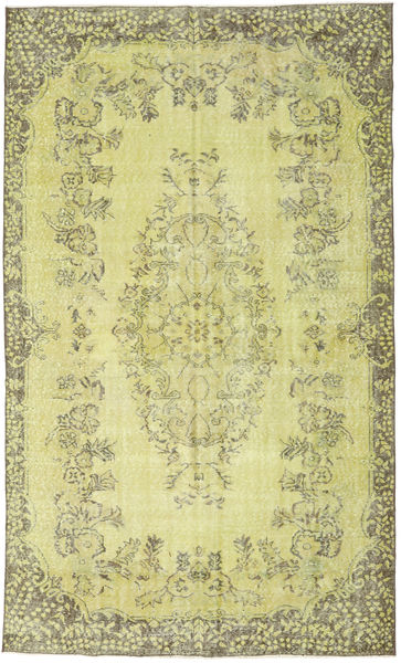 Colored Vintage Rug 174X292 Authentic  Modern Handknotted Yellow/Light Green (Wool, Turkey)