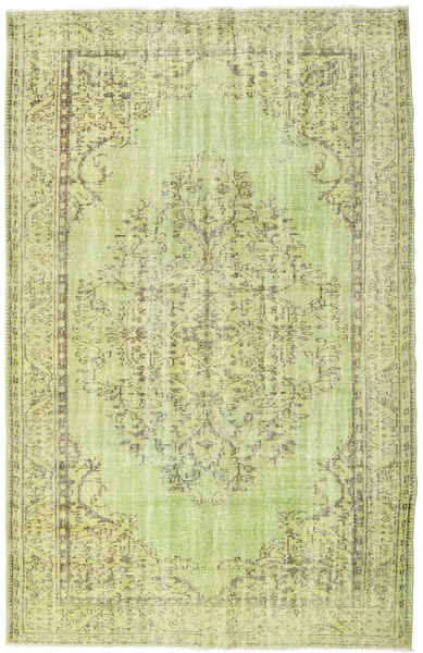 Colored Vintage Rug 187X295 Authentic  Modern Handknotted Light Green (Wool, Turkey)