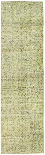 Colored Vintage Matto 81X291 Moderni Käsinsolmittu Käytävämatto Vaaleanvihreä/Tummanbeige (Villa, Turkki)