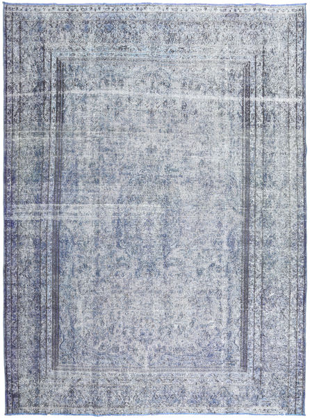 Colored Vintage Tapis 257X337 Moderne Fait Main Gris Clair/Bleu Clair Grand (Laine, Pakistan)