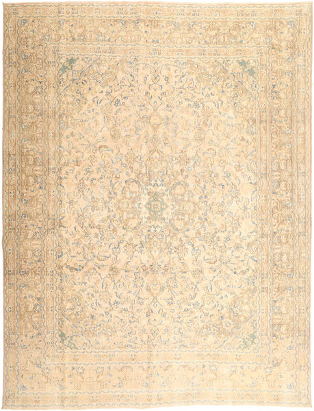 Colored Vintage Rug 295X380 Authentic  Modern Handknotted Beige/Light Brown/Light Pink Large (Wool, Persia/Iran)