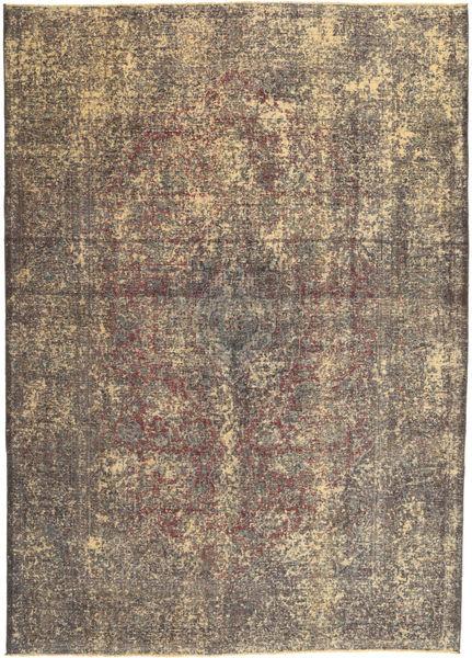 Colored Vintage Teppe 242X335 Ekte Moderne Håndknyttet Lysbrun/Mørk Brun (Ull, Persia/Iran)