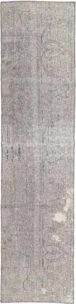 Colored Vintage Rug 67X290 Authentic  Modern Handknotted Hallway Runner  Light Grey (Wool, Persia/Iran)