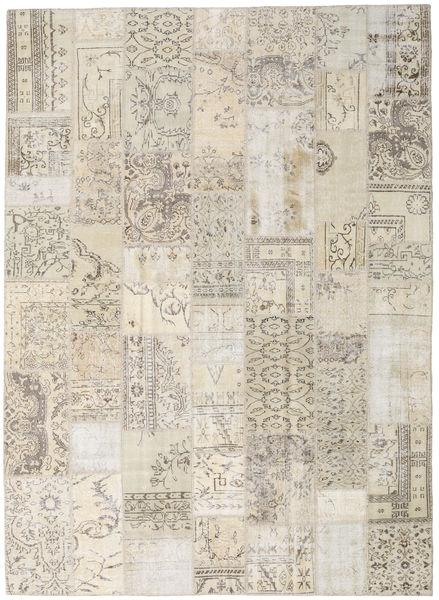 Patchwork Tapis 253X348 Moderne Fait Main Gris Clair/Beige Grand (Laine, Turquie)