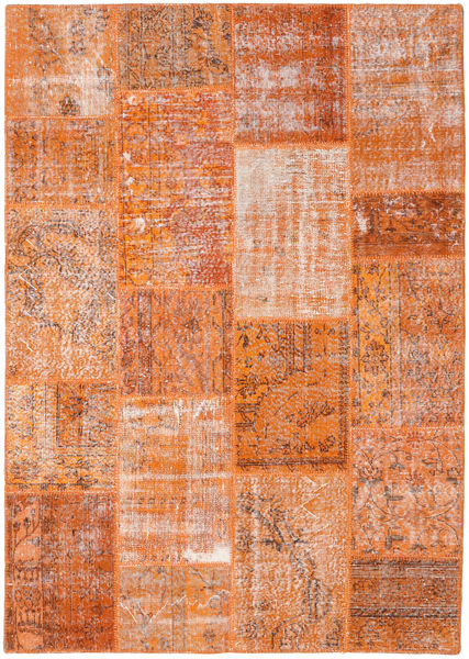 Patchwork Rug 161X227 Authentic  Modern Handknotted Light Brown/Orange (Wool, Turkey)