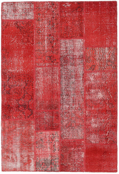 Patchwork Rug 143X210 Authentic  Modern Handknotted Crimson Red/Rust Red (Wool, Turkey)