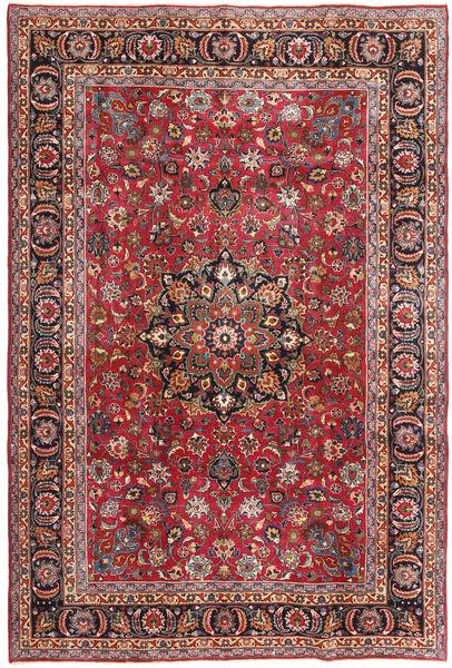 Mashad Patina Matto 192X288 Itämainen Käsinsolmittu Ruskea/Tummansininen (Villa, Persia/Iran)