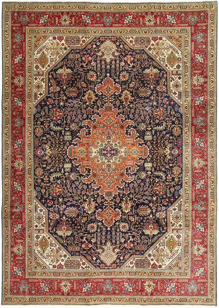Tabriz Patina Matto 245X348 Itämainen Käsinsolmittu Vaaleanruskea/Tummansininen (Villa, Persia/Iran)