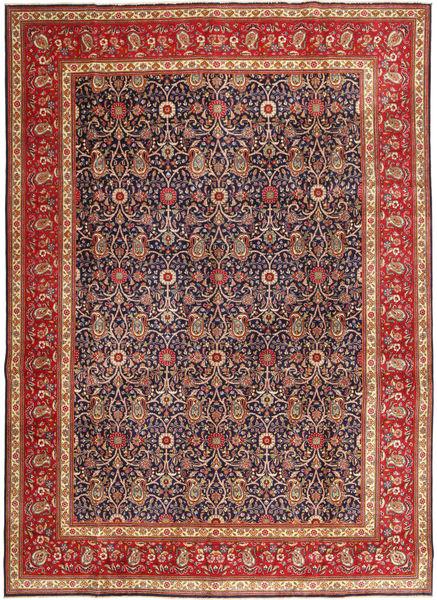 Tabriz Patina Matto 290X397 Itämainen Käsinsolmittu Ruskea/Tummanpunainen Isot (Villa, Persia/Iran)