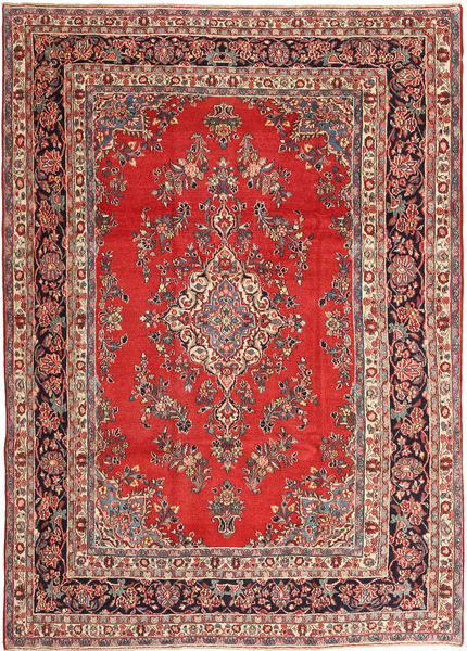 Hamadan Patina Matta 250X360 Äkta Orientalisk Handknuten Roströd/Brun Stor (Ull, Persien/Iran)