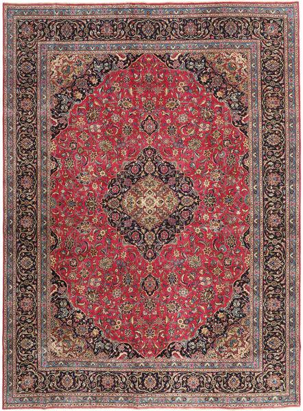 Mashad Patina Matto 288X387 Itämainen Käsinsolmittu Tummanpunainen/Tummanruskea Isot (Villa, Persia/Iran)