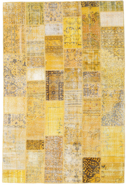 Patchwork Rug 200X300 Authentic  Modern Handknotted Dark Beige/Yellow (Wool, Turkey)