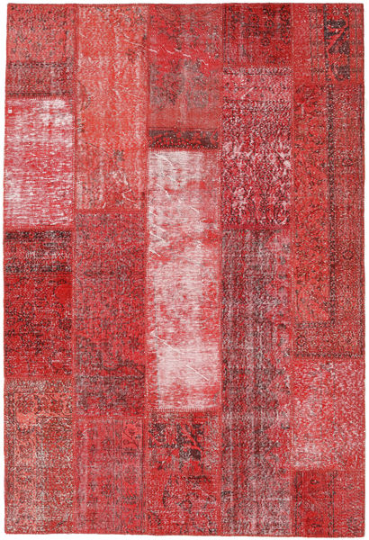 Patchwork Rug 201X298 Authentic  Modern Handknotted Rust Red/Brown (Wool, Turkey)