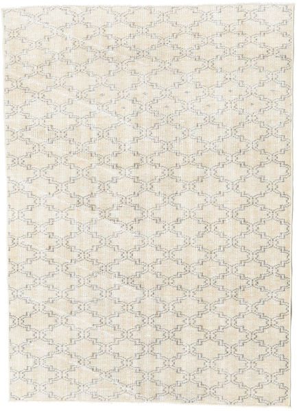 Colored Vintage Rug 123X176 Authentic  Modern Handknotted Beige/Light Grey (Wool, Turkey)