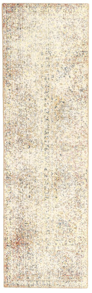 Colored Vintage Rug 72X248 Authentic  Modern Handknotted Hallway Runner  Beige/Light Grey (Wool, Persia/Iran)