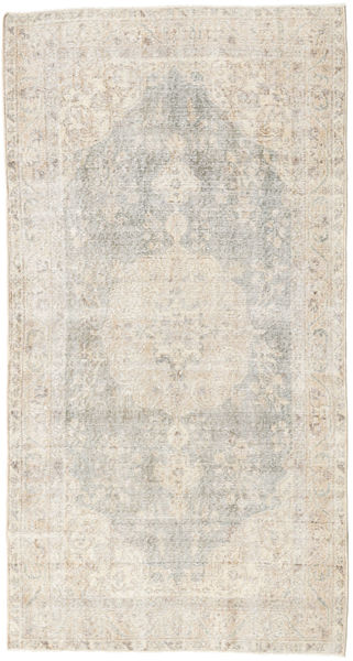 Colored Vintage Rug 106X208 Authentic  Modern Handknotted Light Grey/Beige (Wool, Turkey)