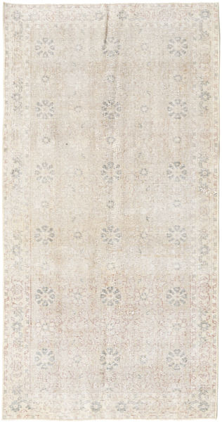 Colored Vintage Rug 97X190 Authentic  Modern Handknotted Light Grey/Beige (Wool, Turkey)
