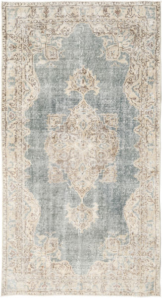 Colored Vintage Rug 116X217 Authentic  Modern Handknotted Light Grey/Beige (Wool, Turkey)