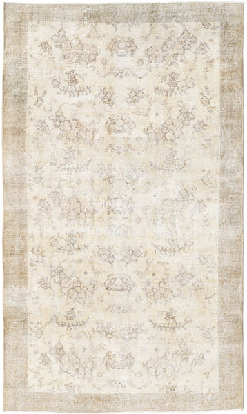 Colored Vintage Rug 112X192 Authentic  Modern Handknotted Light Grey/Beige (Wool, Turkey)