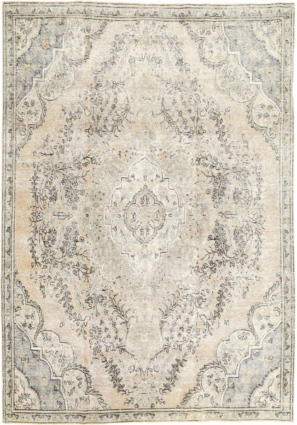 Colored Vintage Rug 225X313 Authentic  Modern Handknotted Light Grey/Beige (Wool, Persia/Iran)