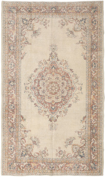 Colored Vintage Rug 181X307 Authentic  Modern Handknotted Light Grey/Beige (Wool, Turkey)