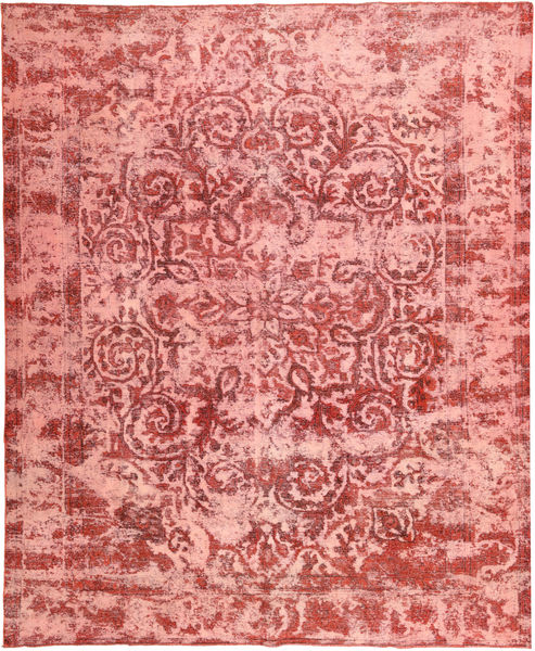 Colored Vintage Rug 295X356 Authentic  Modern Handknotted Light Pink/Dark Red Large (Wool, Persia/Iran)