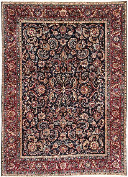 Mashad Patina Matta 239X330 Äkta Orientalisk Handknuten Mörkbrun/Mörkröd (Ull, Persien/Iran)