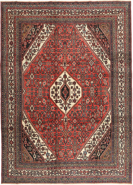 Hamadan Patina Matto 258X357 Itämainen Käsinsolmittu Vaaleanruskea/Tummanruskea Isot (Villa, Persia/Iran)