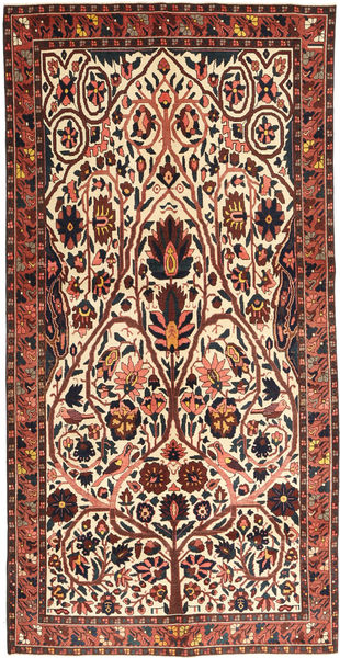 Bakhtiari Patina Rug 150X303 Authentic  Oriental Handknotted Beige/Dark Brown (Wool, Persia/Iran)