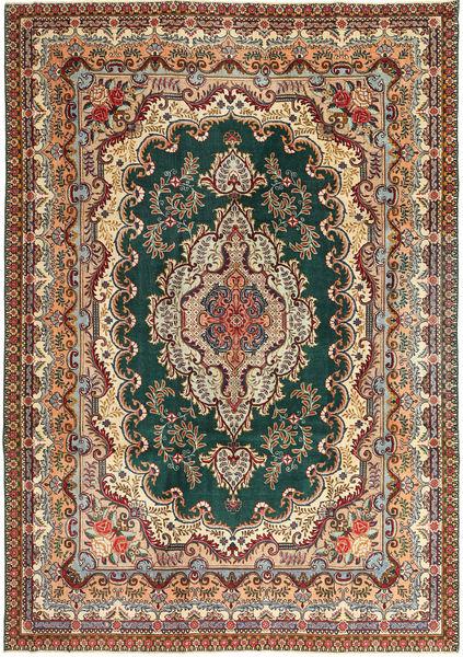 Tabriz Patina Matto 237X344 Itämainen Käsinsolmittu Tummanharmaa/Vaaleanruskea (Villa, Persia/Iran)