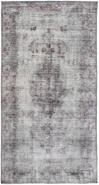 Colored Vintage Rug 150X290 Authentic  Modern Handknotted Light Grey/Dark Grey (Wool, Persia/Iran)
