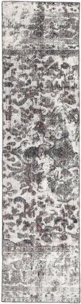 Colored Vintage Rug 70X286 Authentic  Modern Handknotted Hallway Runner  Light Grey/Dark Brown (Wool, Persia/Iran)