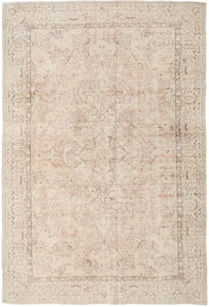 Colored Vintage Rug 209X315 Authentic  Modern Handknotted Light Brown/Beige (Wool, Turkey)