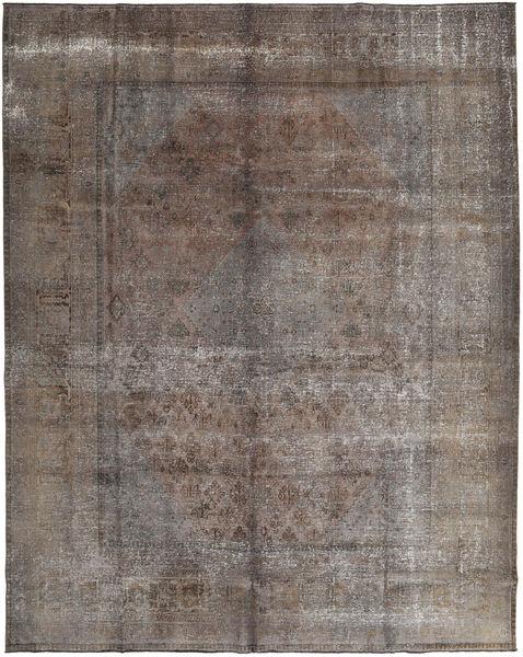 Colored Vintage Rug 300X372 Authentic  Modern Handknotted Light Grey/Dark Brown/Dark Grey Large (Wool, Persia/Iran)