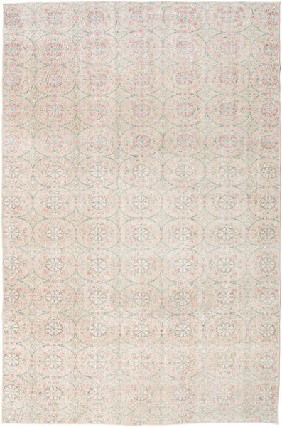 Colored Vintage Rug 203X306 Authentic  Modern Handknotted White/Creme/Light Grey (Wool, Turkey)