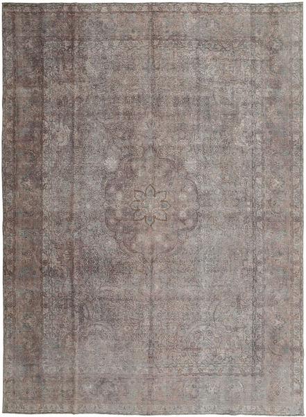 Vintage Rug 293X393 Authentic  Modern Handknotted Light Grey/Dark Brown Large (Wool, Persia/Iran)
