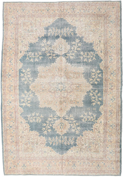 Colored Vintage Rug 224X328 Authentic  Modern Handknotted Light Grey/White/Creme (Wool, Turkey)