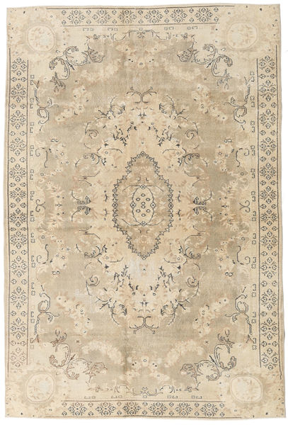 Colored Vintage Rug 203X304 Authentic  Modern Handknotted Light Brown/Beige (Wool, Turkey)