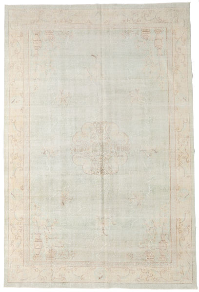 Colored Vintage Rug 219X327 Authentic  Modern Handknotted Beige/Light Brown (Wool, Turkey)