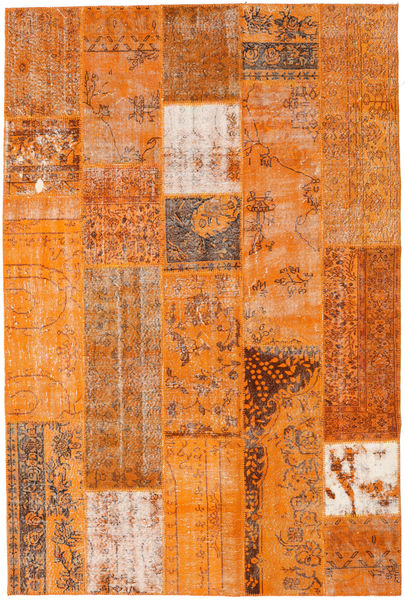 Patchwork Rug 202X303 Authentic  Modern Handknotted Orange/Light Brown (Wool, Turkey)