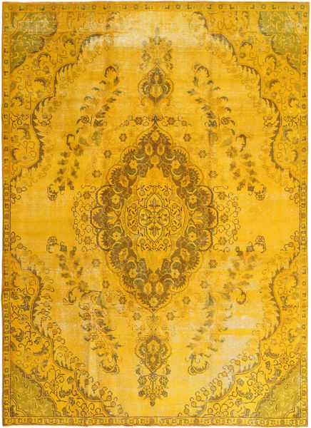 Colored Vintage Rug 241X327 Authentic  Modern Handknotted Yellow/Orange (Wool, Persia/Iran)