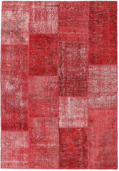 Patchwork Tappeto 161X232 Moderno Fatto A Mano Rosso/Rosso Scuro (Lana, Turchia)