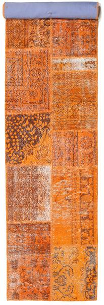 Patchwork Szőnyeg 80X404 Modern Csomózású Narancssárga/Rozsdaszín (Gyapjú, Törökország)