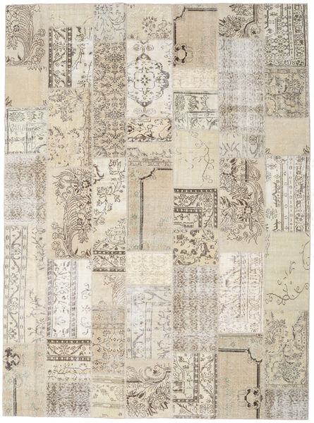 Patchwork Rug 274X371 Authentic  Modern Handknotted Light Grey/Light Brown Large (Wool, Turkey)