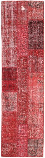 パッチワーク 絨毯 81X300 モダン 手織り 廊下 カーペット 深紅色の/赤 (ウール, トルコ)